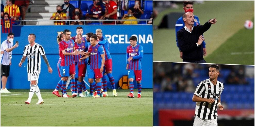 Che batosta per la Juve di Allegri con il Barcellona!