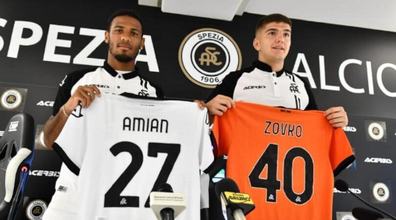 """174607419 8d01e862 36b4 44e8 b711 3d45fa316dab - Calciomercato Spezia, ecco Amian e Zovko: """"Daremo il massimo"""""""