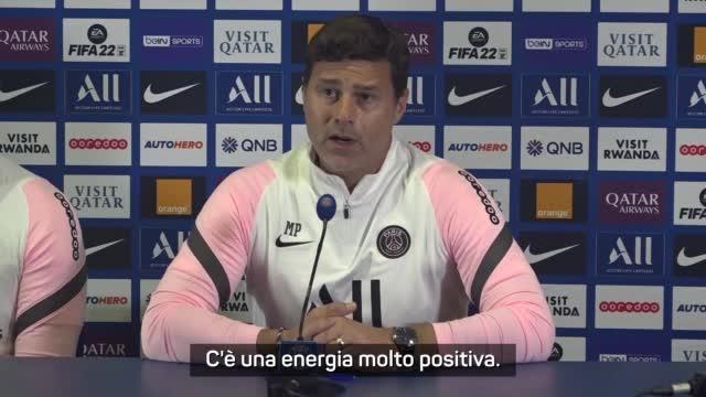 """Pochettino: """"Con Messi c'è un'energia positiva"""""""