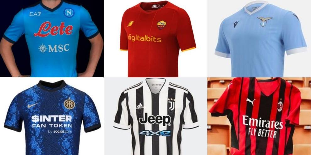 Le nuove maglie della Serie A 2021-22: le novità delle 20 squadre
