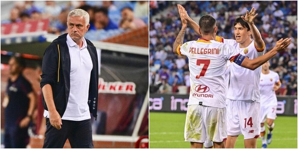 Roma, Mourinho fa festa con Pellegrini e Shomurodov: Trabzonspor ko