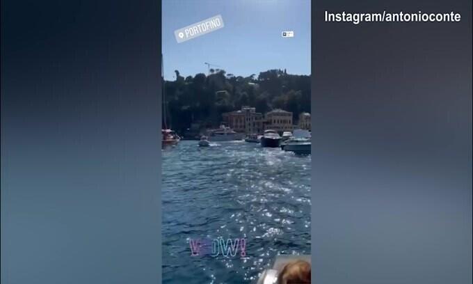 Conte, gita a Portofino