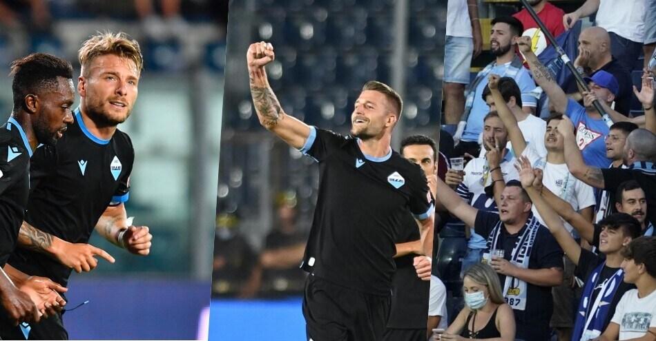 Lazio, festa a Empoli con i tifosi: vittoria per 3-1