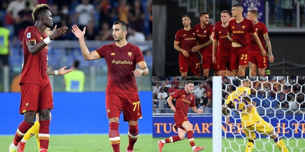 Abraham, debutto show: Mkhitaryan e Veretout lanciano la Roma