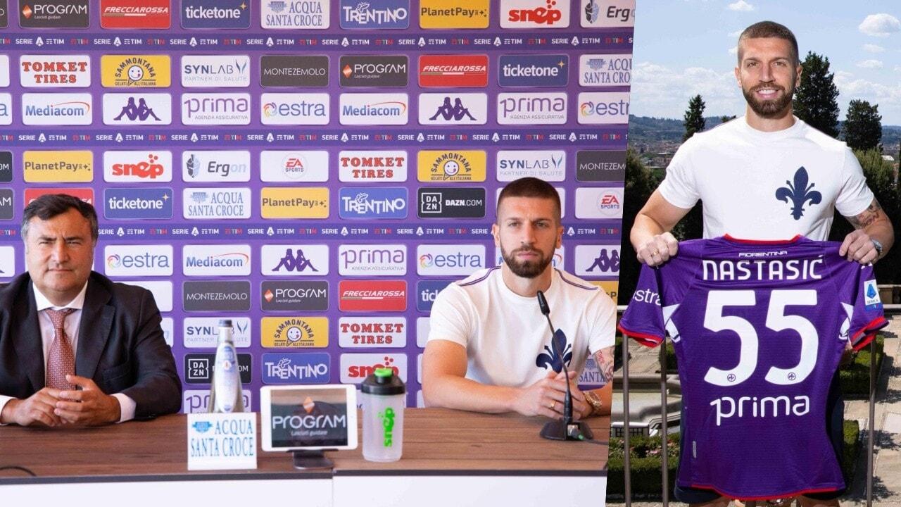 Fiorentina, riecco Nastasic: indosserà la 55