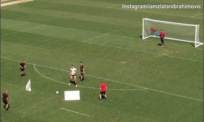 Milan, Ibrahimovic è pronto al rientro: che gol!