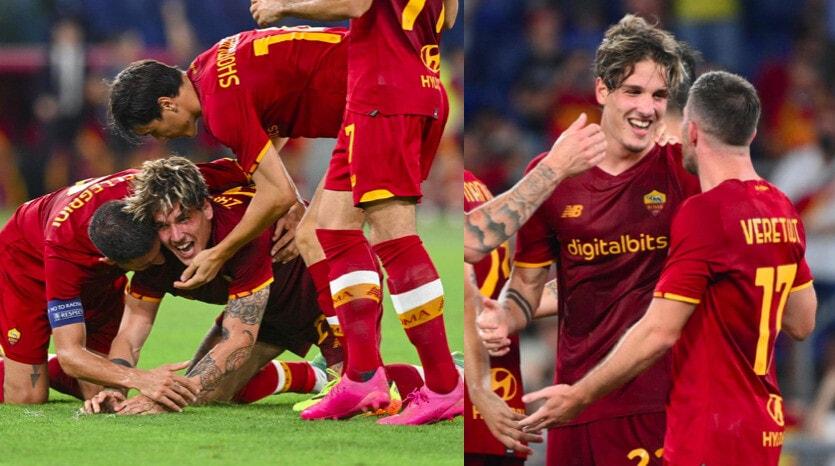 Zaniolo, grande commozione dopo il gol al Trabzonspor