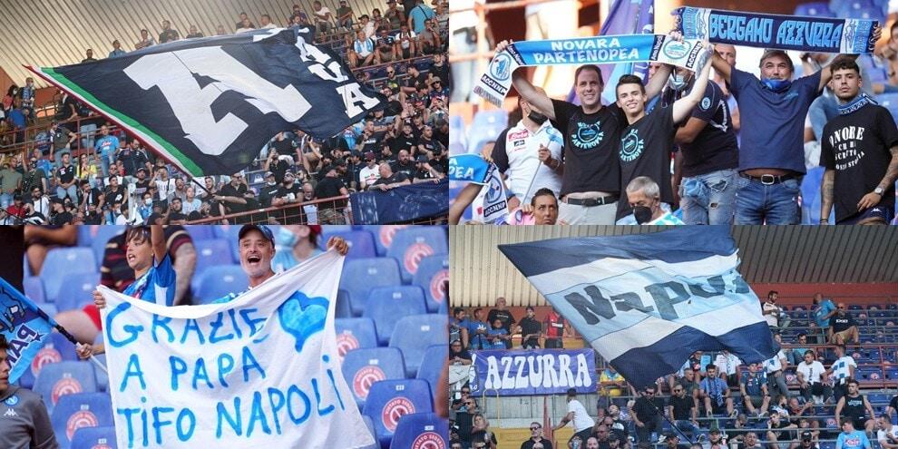 I tifosi del Napoli invadono il Ferraris: che entusiasmo sugli spalti