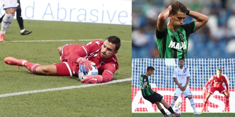 Audero vola e salva, 0-0 Sassuolo-Sampdoria