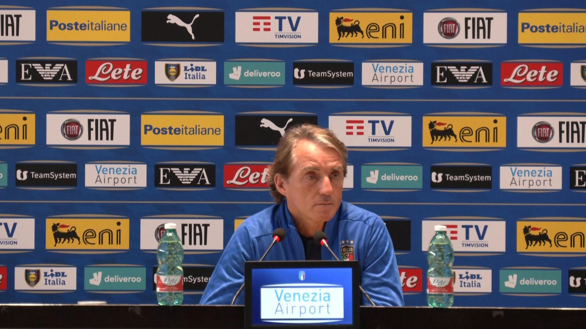 """Mancini: """"Un peccato perdere grandi giocatori come Lukaku e Donnarumma"""""""