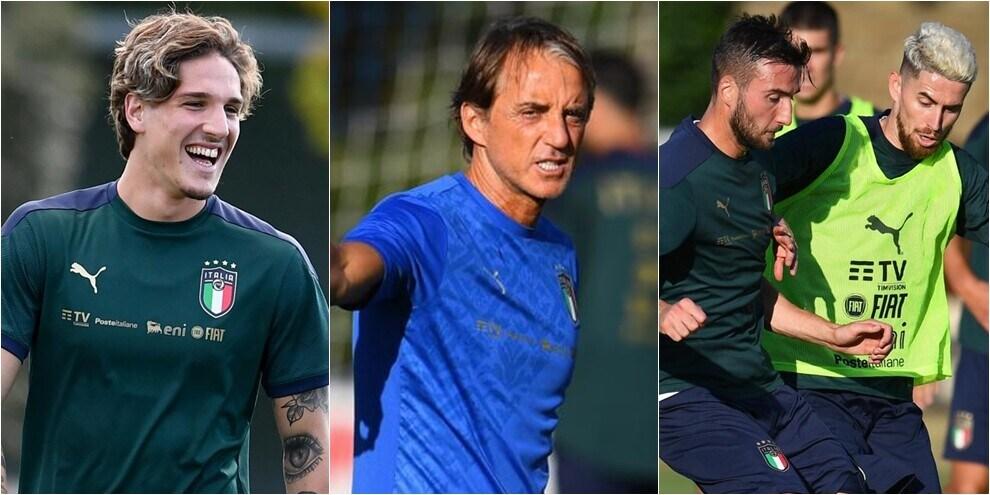 L'Italia si prepara al ritorno in campo: duro allenamento a Coverciano