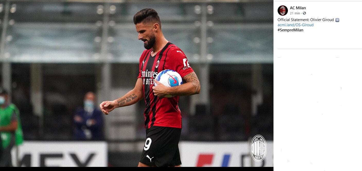 Milan, Giroud positivo al Covid 19