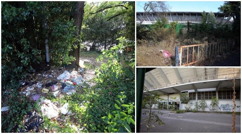 Stadio Flaminio abbandonato all'incuria: ecco come è ridotto oggi