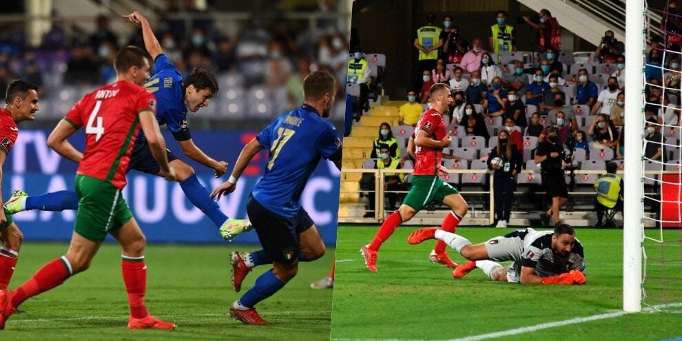 Chiesa, che gol! Ma è solo 1-1 per l'Italia contro la Bulgaria