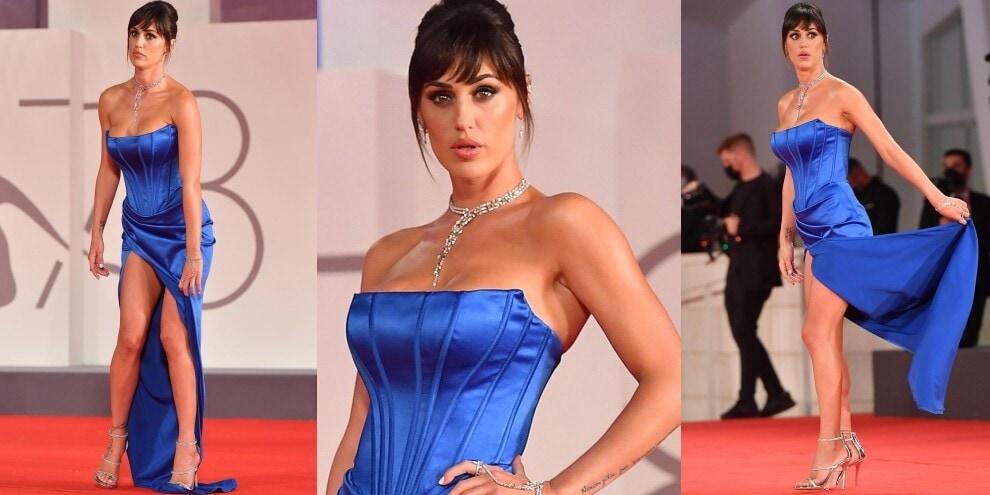 Cecilia Rodriguez, spacco vertiginoso sul red carpet a Venezia