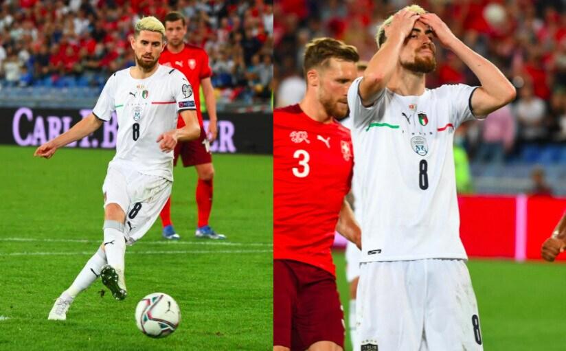 Italia, Jorginho sbaglia il rigore e si dispera: 0-0 in Svizzera