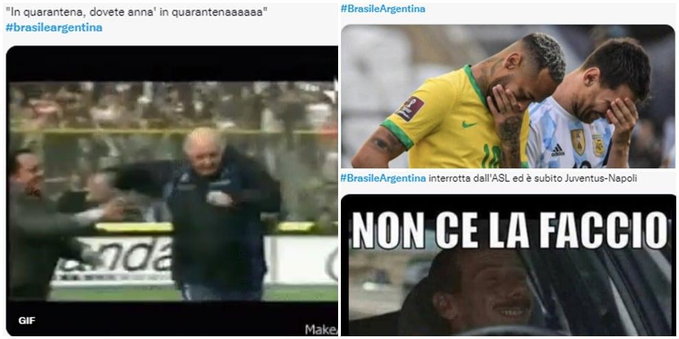 Brasile-Argentina, il match sospeso visto dai social: quanti meme!