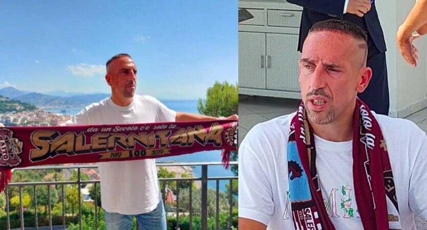 Ribery, ecco le foto con la sciarpa della Salernitana