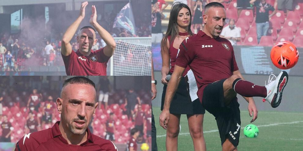 Salernitana, tripudio per Ribery alla presentazione ufficiale