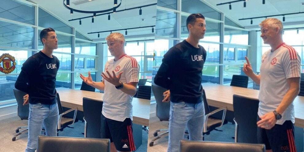 Manchester United, Ronaldo è arrivato: confronto con Solskjaer