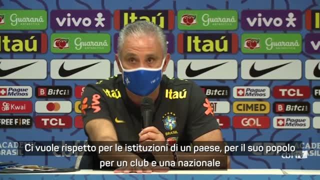 """Tite torna su Brasile-Argentina: """"Nessuno è al di sopra della legge"""""""