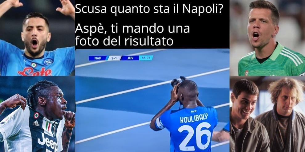 Napoli-Juve: dilaga l'ironia social su Szczesny, Manolas e Kean!