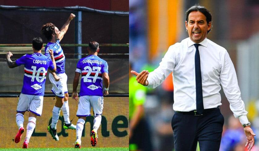 La Sampdoria frena l'Inter: Inzaghi scatenato in panchina