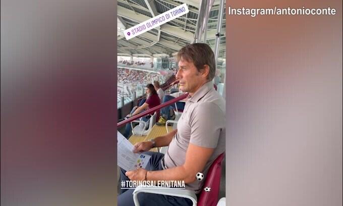 Torino-Salernitana, in tribuna c'è Antonio Conte