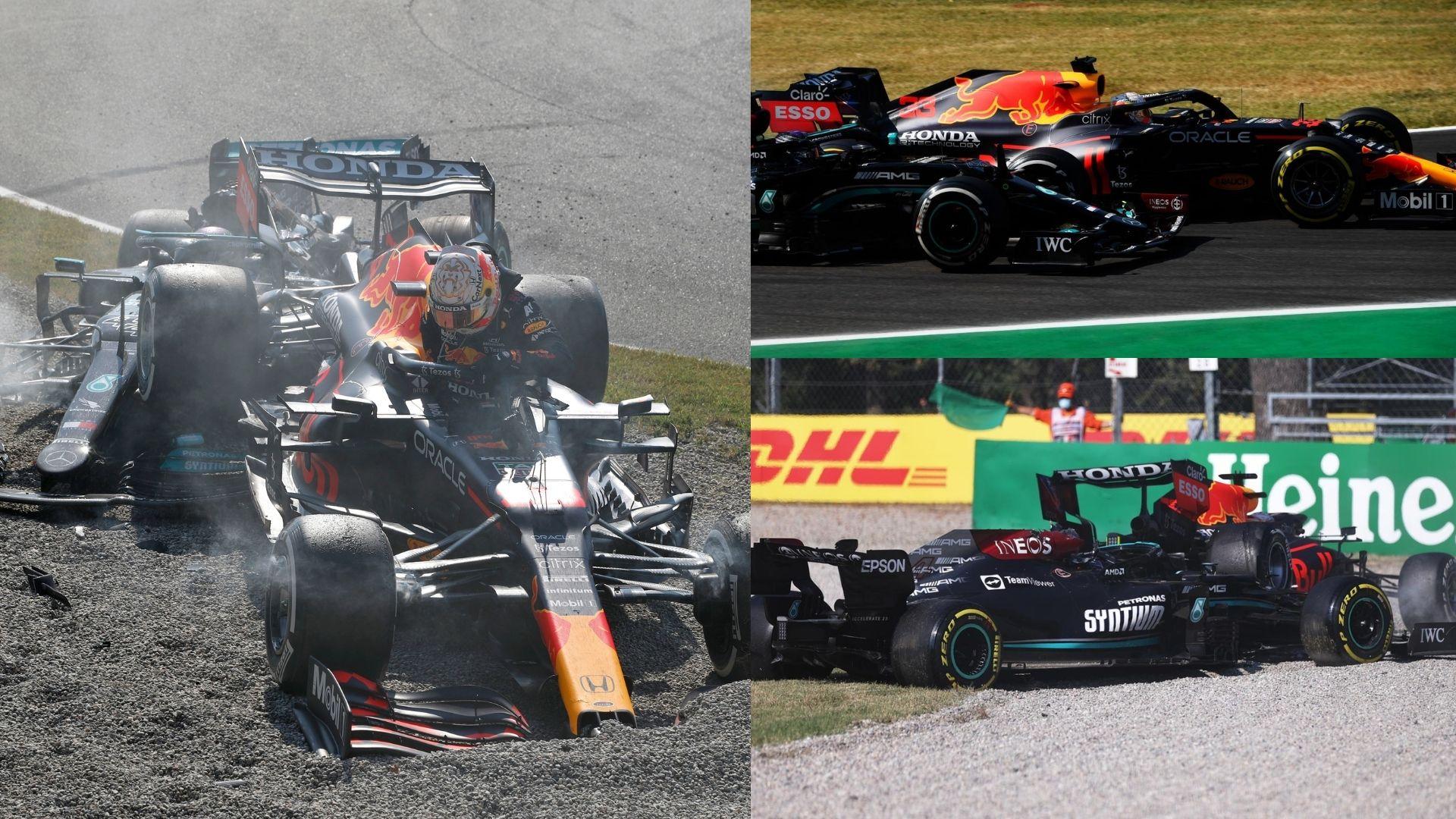 Paura a Monza per il GP d'Italia: Hamilton e Verstappen finiscono uno sopra l'altro