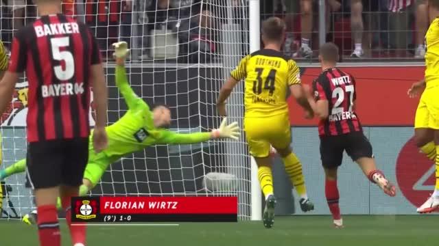 Doppietta di Haaland nel pirotecnico 4-3 tra Bayer e Borussia