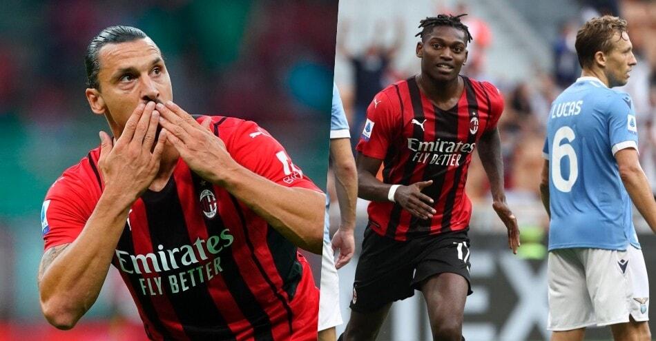 Festa Milan a San Siro: Leao e Ibrahimovic stendono la Lazio
