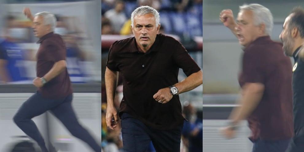 Mourinho, che partita: sguardi, indicazioni e quella pazza corsa dopo il 2-1