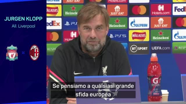 """Klopp: """"Un Milan forte. Ibra out? C'è Giroud..."""""""