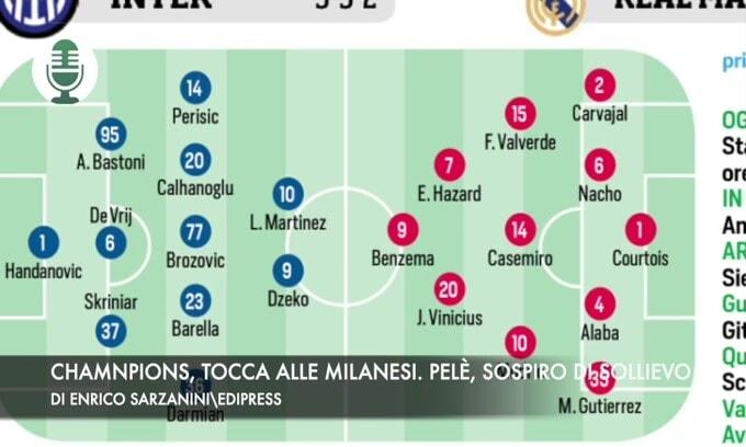 Champions, tocca a Inter e Milan. Pelé, sospiro di sollievo