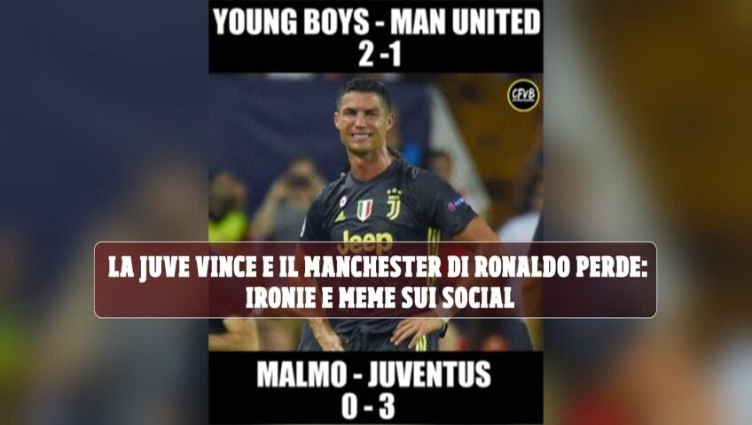 La Juve vince e il Manchester di Ronaldo perde: ironie e meme sui social