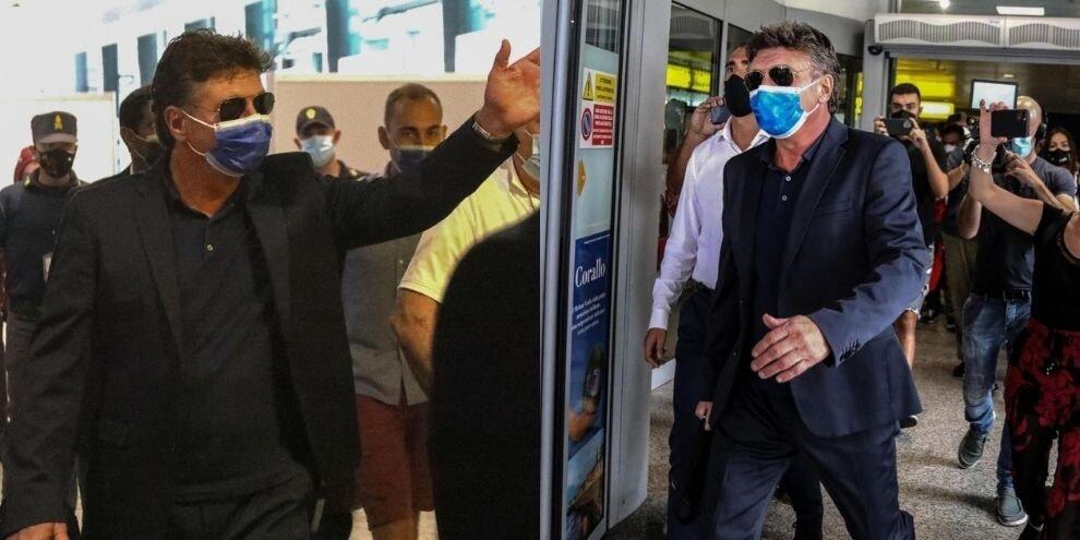 Mazzarri nuovo allenatore del Cagliari: l'arrivo in aeroporto