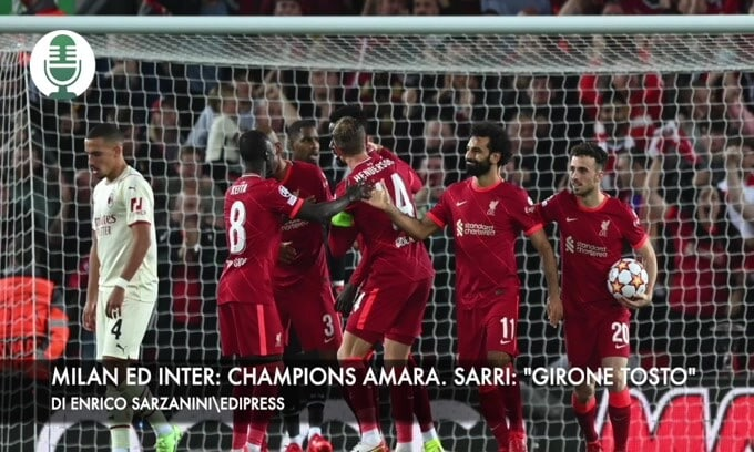 "Inter and Milan: Bitter Champions.  Sarri: ""group hard"""