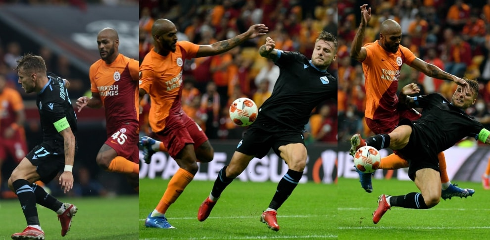 Galatasaray-Lazio: Marcao-Immobile, il contatto in area