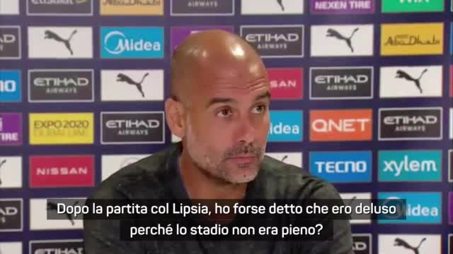 """Guardiola: """"Se sono un problema per i tifosi, mi faccio da parte"""""""