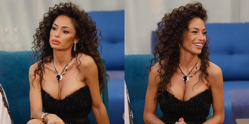 Raffaella Fico, l'abito è troppo scollato: incidente sexy in diretta