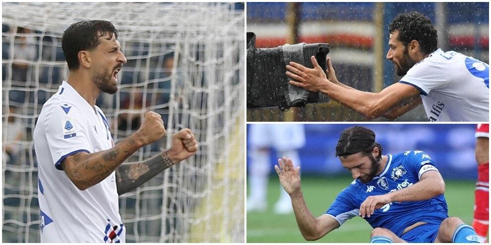 Caputo e Candreva travolgono l'Empoli sotto la pioggia: festa Sampdoria