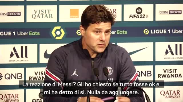 """Pochettino: """"Cambio Messi? Penso solo al bene della squadra"""""""