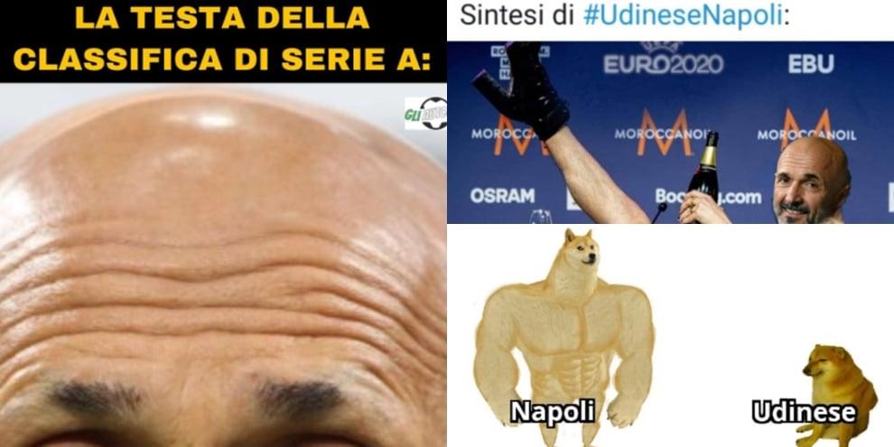 Il Napoli vince e vola al primo posto in classifica. I social si scatenano FOTO