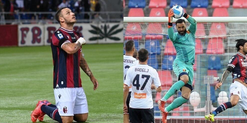 Arnautovic illude il Bologna, Sirigu salva il Genoa: pari spettacolo