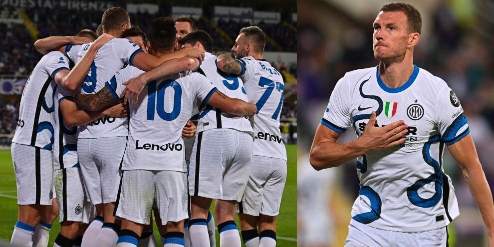 Inter, super rimonta sulla Fiorentina: anche Dzeko in gol