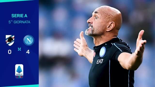 Sampdoria-Napoli 0-4: statistiche e curiosità