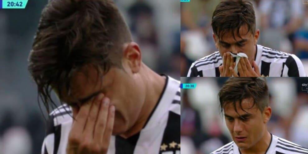 Dybala, gol e ko: lascia Juve-Sampdoria tra le lacrime
