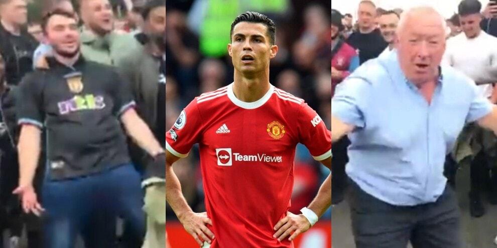 """""""Siuu"""": i tifosi dell'Aston Villa prendono in giro Cristiano Ronaldo"""