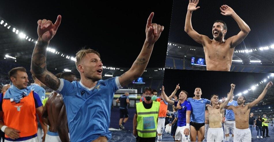 Lazio, festa dopo il derby: Immobile scatenato sotto la Nord