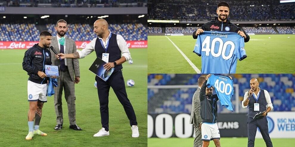 Insigne fa 400 partite con il Napoli: targa e maglia speciale